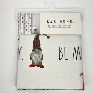 Rae Dunn BE MERRY Christmas Shower Curtain Liner